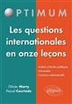 LES QUESTIONS INTERNATIONALES EN ONZE LECONS